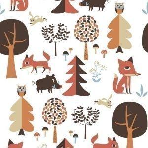 Ingela P Arrhenius Kuvatapetti Forest red 360 x 255 cm
