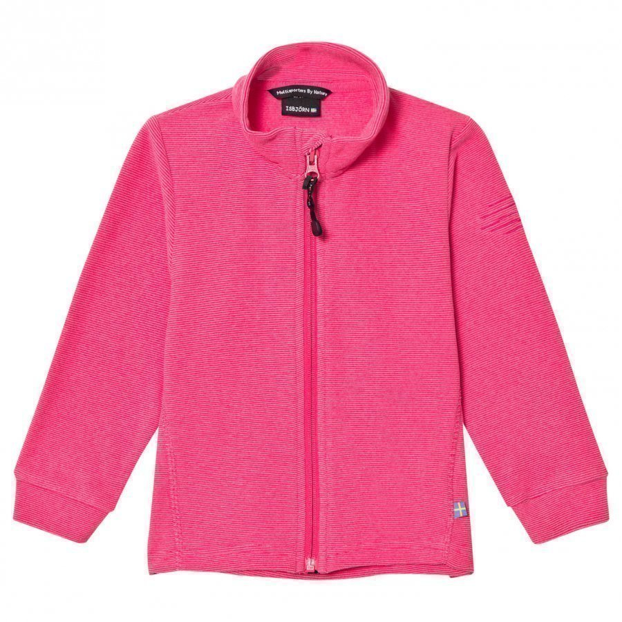 Isbjörn Of Sweden Lynx Microfleece Jacket Kids Pink Fleece Takki