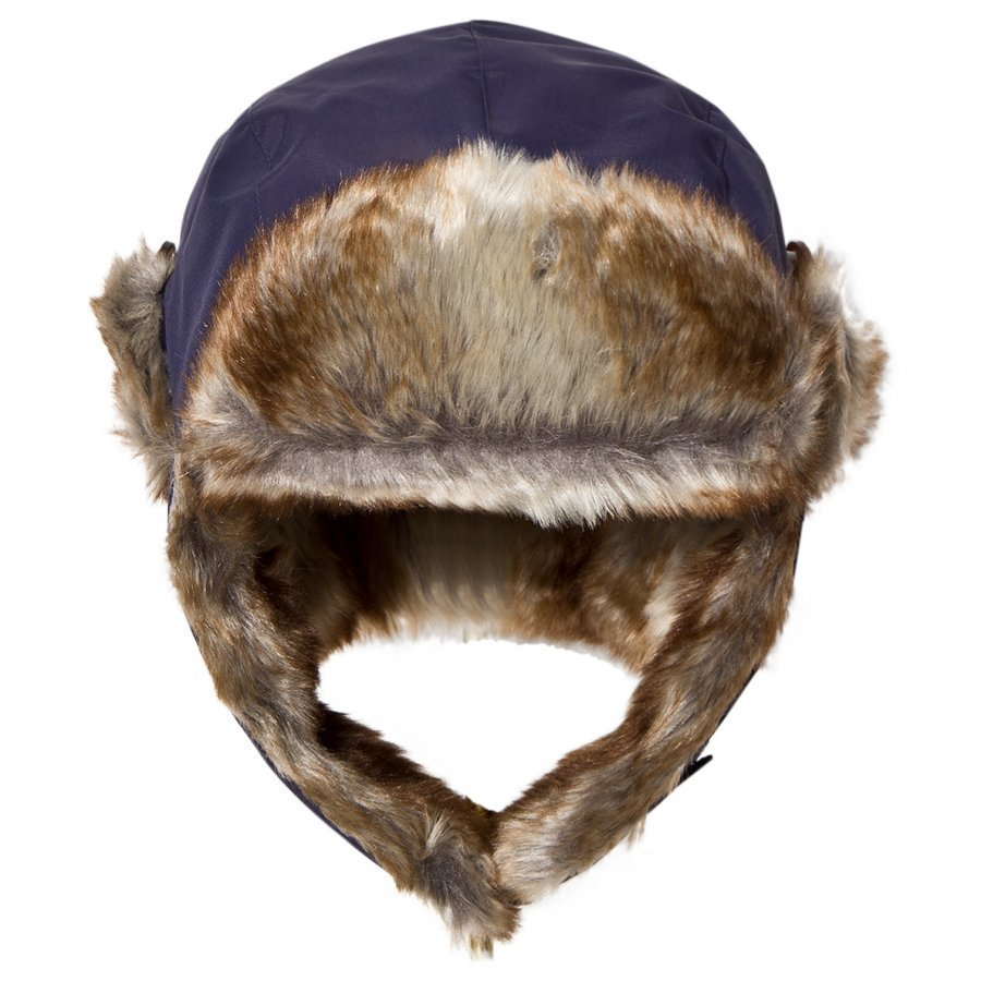 Isbjörn Of Sweden Squirrel Winter Cap Navy Karvahattu