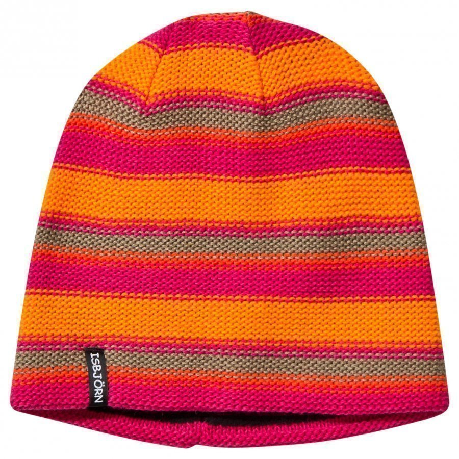 Isbjörn Of Sweden Stripes Knitted Hat Lollypop Pipo