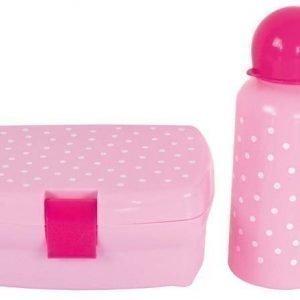 Jabadabado Eväsrasia & juomapullo Pilkullinen Vaaleanpunainen