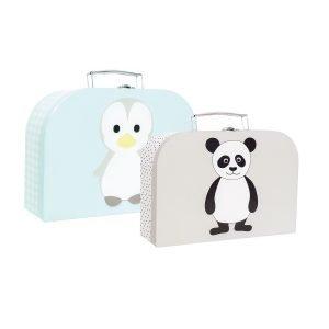 Jabadabado Pingviini & Panda Kartonkilaukku