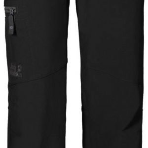 Jack Wolfskin Activate Ii Softshell Pants Boys Softshell Housut Musta
