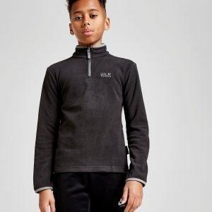 Jack Wolfskin Gecko 1/4 Zip Sweatshirt Musta