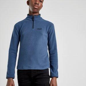 Jack Wolfskin Gecko 1/4 Zip Sweatshirt Sininen