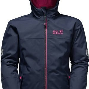 Jack Wolfskin Iceland 3-In-1 Girls Yhdistelmätakki Night Blue