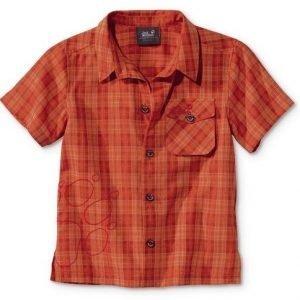 Jack Wolfskin Kids Mosquito Sun Shirt Kauluspaita Oranssi