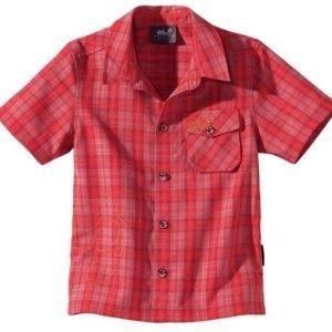 Jack Wolfskin Kids Mosquito Sun Shirt Kauluspaita Punainen