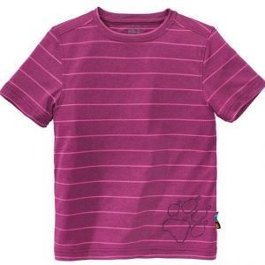 Jack Wolfskin Kids Run Around Tee T-Paita Berry Red