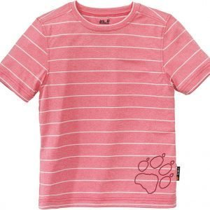 Jack Wolfskin Kids Run Around Tee T-Paita Vaaleanpunainen