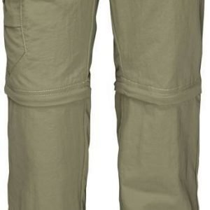 Jack Wolfskin Kids Safari Zip Off Pants Kids Katkolahjehousut Khaki