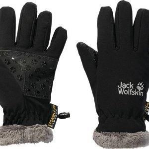 Jack Wolfskin Kids Softshell Highloft Glove Softshell Hanskat Musta
