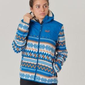 Jack Wolfskin Nordic Hooded Jacket Takki Sininen