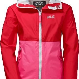 Jack Wolfskin Rainy Days Texapore Jacket Girls Kuoritakki Punainen