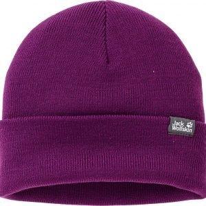 Jack Wolfskin Rib Knit Cap Pipo Purple