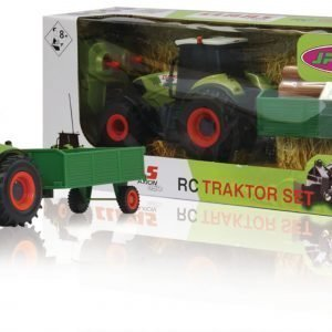 Jamara Kauko-Ohjattava Traktori R / C Tractor Claas Axion 850 With Wood Trailer Rtr