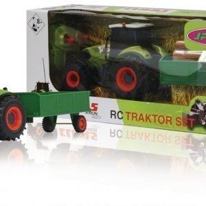 Jamara Kauko-Ohjattava Traktori R / C Tractor Claas Axion 850 With Wood Trailer Rtr