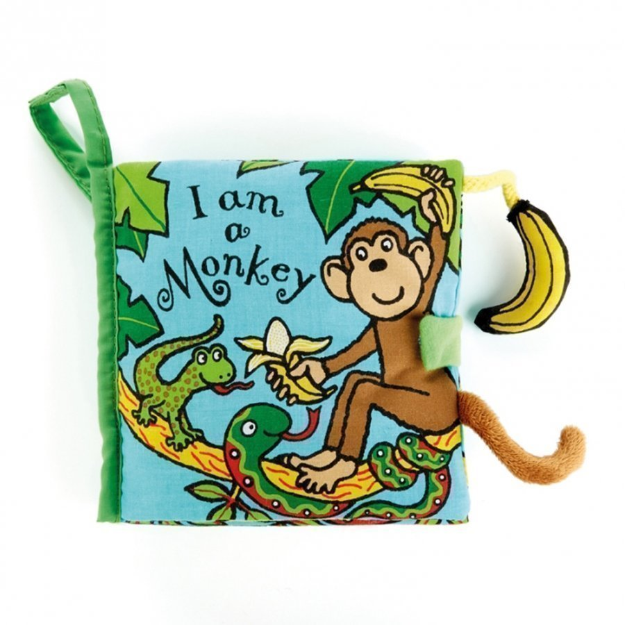 Jellycat I Am A Monkey Book Aktiviteettikirja