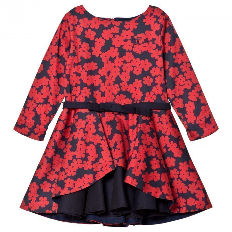 Jessie & James Red Poppies Layered Dress Juhlamekko
