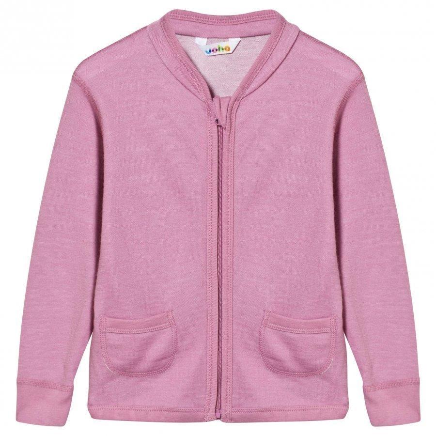 Joha Arctic Zone Cardigan Solid Pink Neuletakki