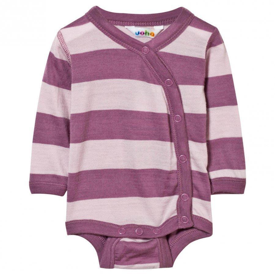 Joha Block Stripe Baby Body Pink Body