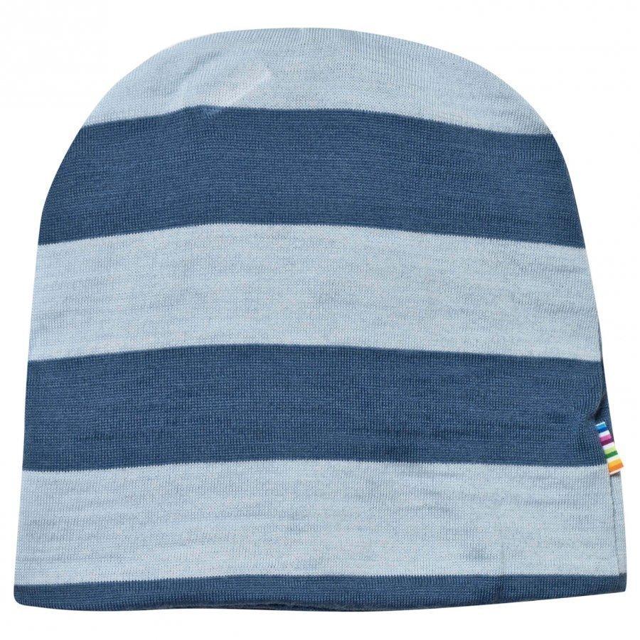 Joha Block Striped Hat Blue Pipo