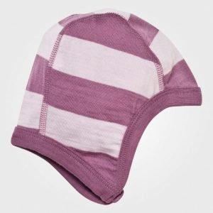 Joha Block Striped Helmet Pink Pipo