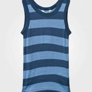 Joha Block Striped Undershirt Blue Alusliivit