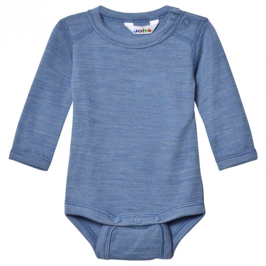 Joha Blue Melange Long Sleeve Baby Body