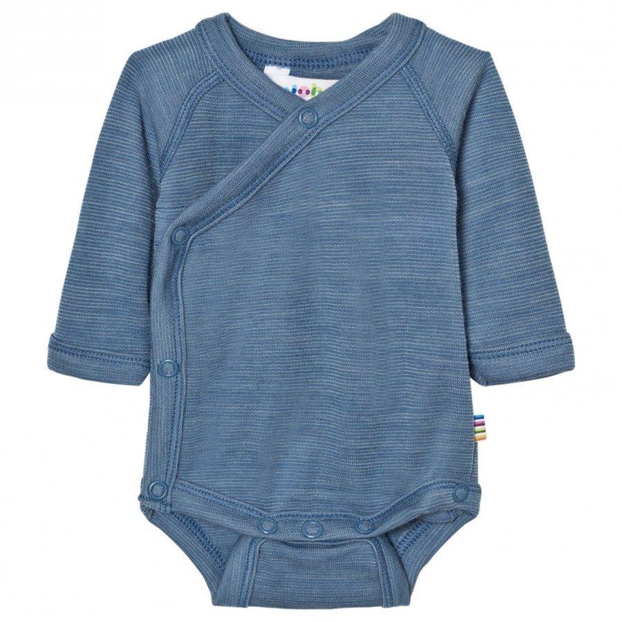 Joha Blue Melange Long Sleeve Wrap Body