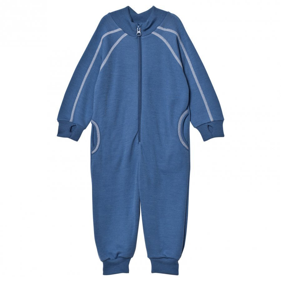 Joha Blue White Stitch One-Piece Potkupuku