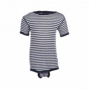 Joha Body Short Sleeves Ull/Silke Lyhythihainen Body Sininen
