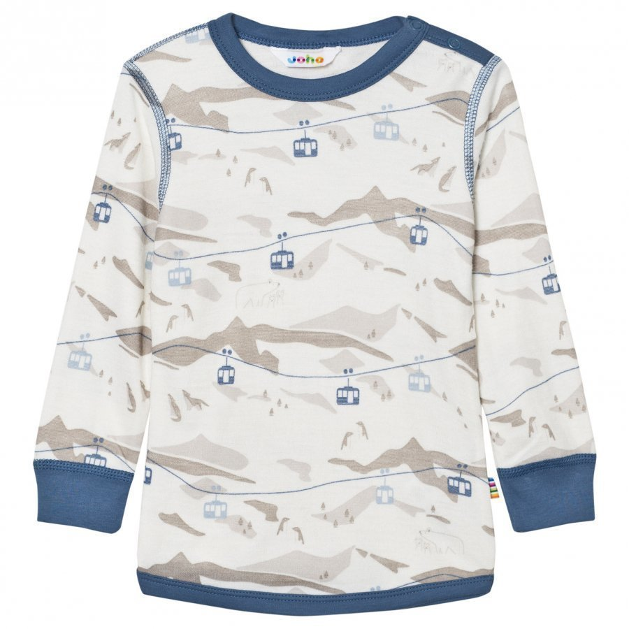 Joha Cable Car Long Sleeve Top Blue Kerraston Yläosa