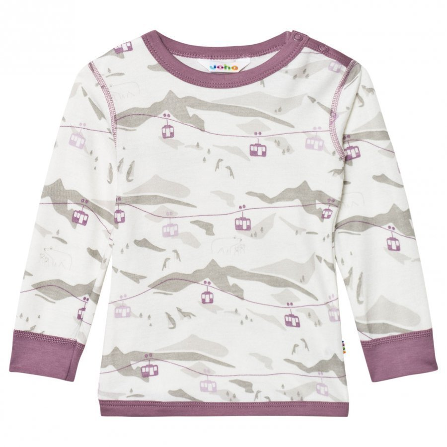 Joha Cable Car Long Sleeve Top Purple Kerraston Yläosa