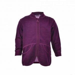 Joha Cardigan Wool Cotton Synteettinen Aluskerrasto Lila