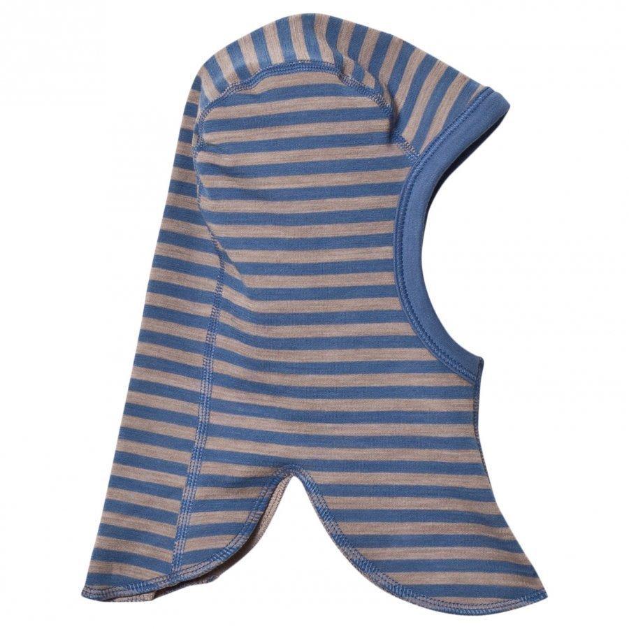 Joha Double Layer Striped Balaclava Blue Kypäräpipo