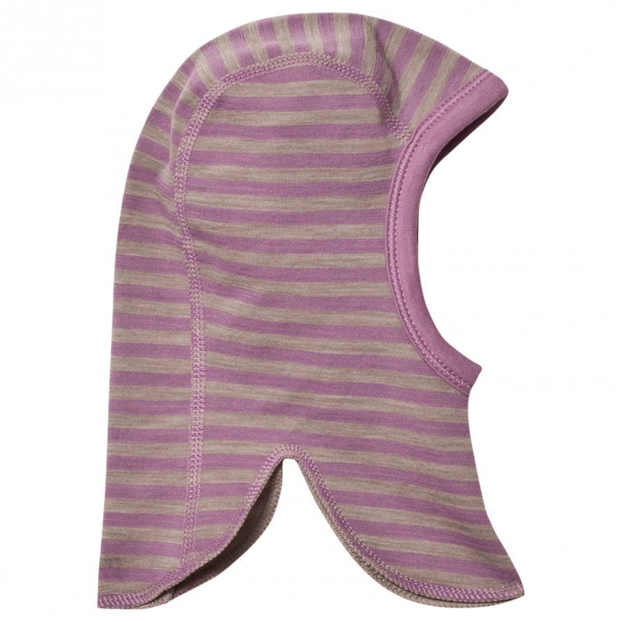 Joha Double Layer Striped Balaclava Purple Kypäräpipo