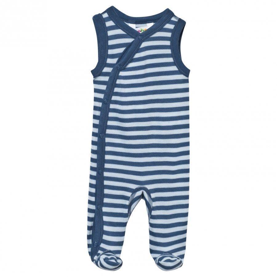 Joha Footed Baby Body Stripe Blue Body