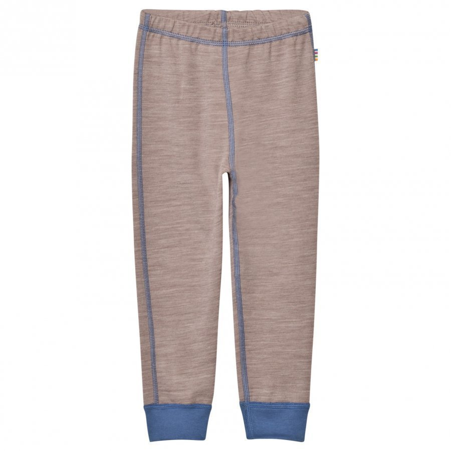 Joha Light Brown Blue Wool And Cotton Leggings Legginsit