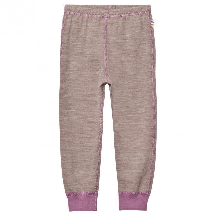Joha Light Brown Purple Wool And Cotton Leggings Legginsit