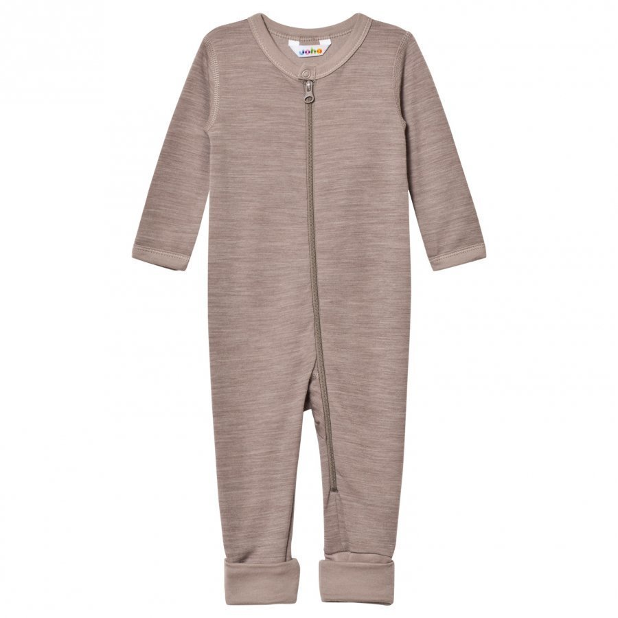 Joha Light Brown Wool And Organic Cotton One-Piece Potkupuku