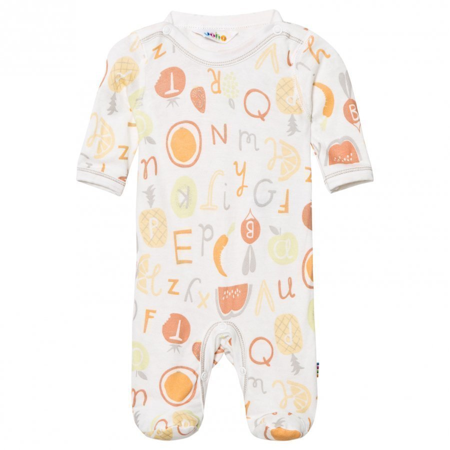Joha Long Sleeve Footed Baby Body Tutti Frutti Romper Puku