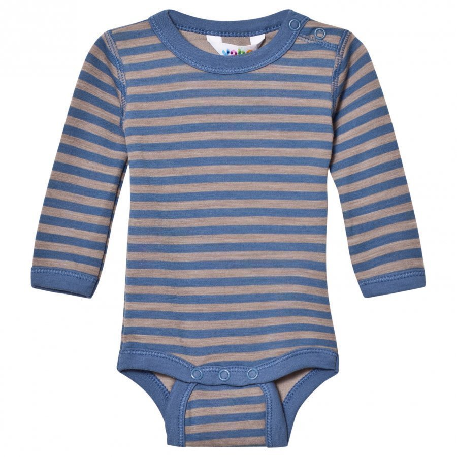 Joha Long Sleeve Striped Baby Body Blue Body