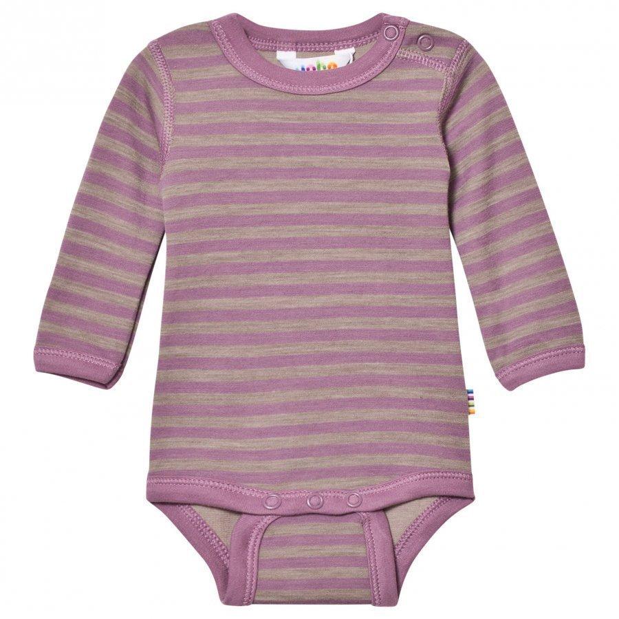 Joha Long Sleeve Striped Baby Body Purple Body