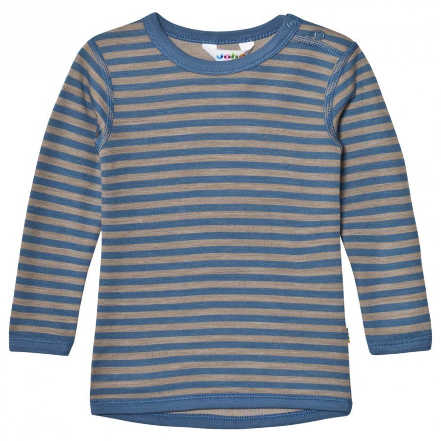 Joha Long Sleeve Striped Top Blue Kerraston Yläosa