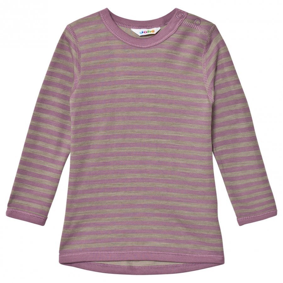 Joha Long Sleeve Striped Top Purple Kerraston Yläosa