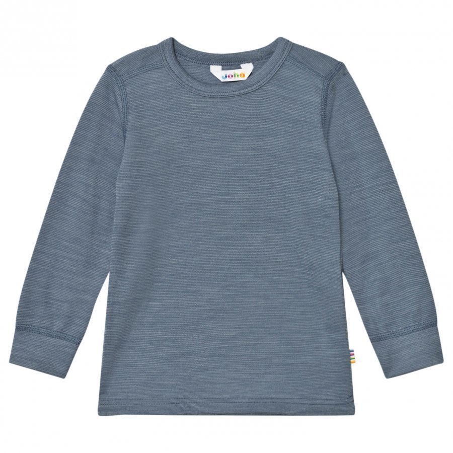 Joha Long Sleeve Top Blue Melange Kerraston Yläosa