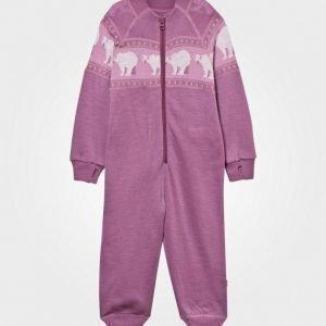 Joha Polar Bear Onesie Pink Body