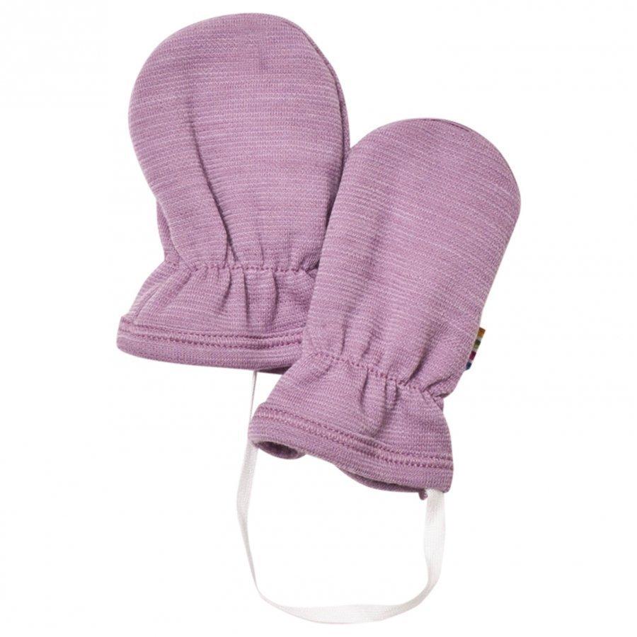 Joha Purple Melange Baby Mittens Villalapaset