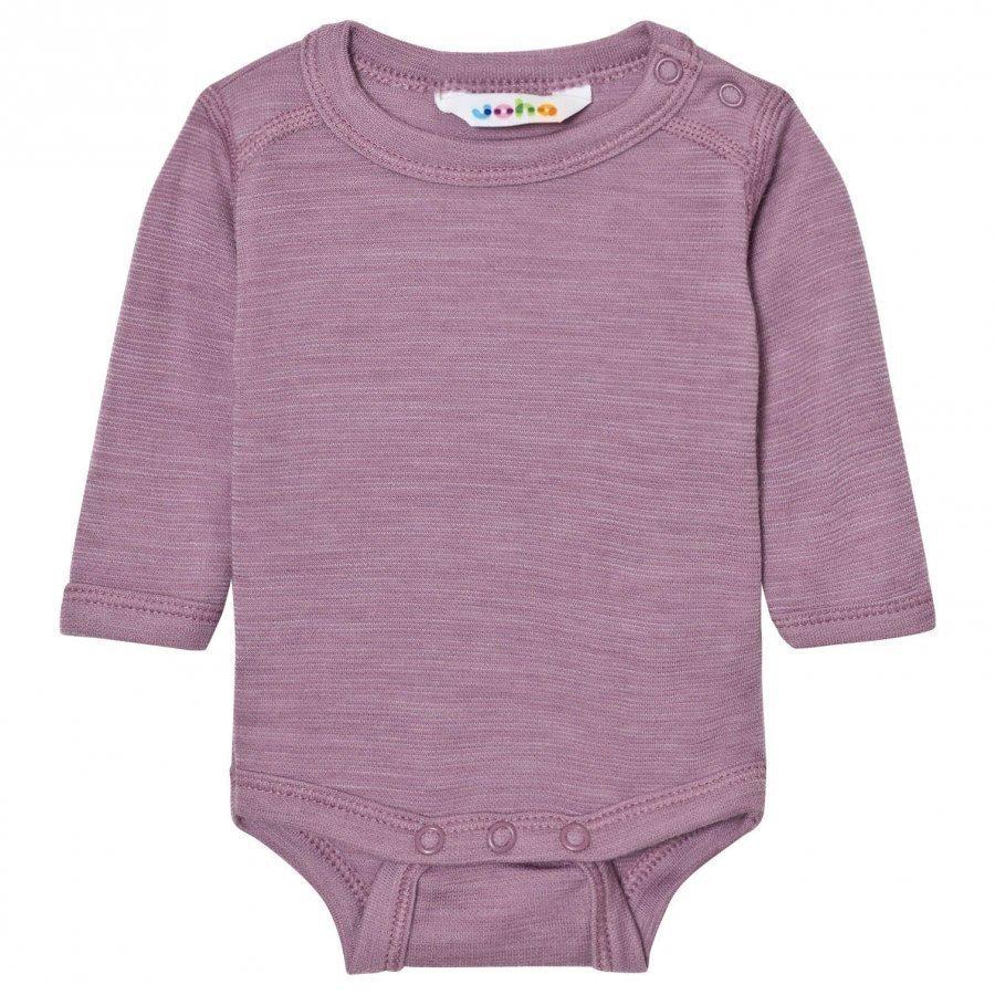 Joha Purple Melange Long Sleeve Baby Body